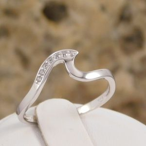 Sparking Wave Ring - Sterling Silver